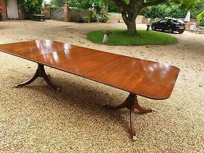 Vintage Mahogany 10/12 Seater Dining Table