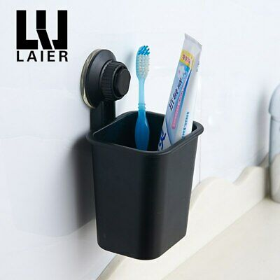 Black toothbrush cup holder suction cup holder plastic Tumbler holder No