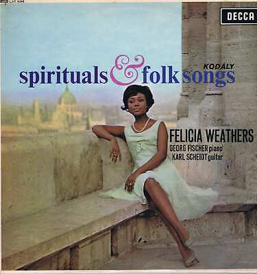 Felicia Weathers - Spirituals & Folk Songs - LXT 6245 - Factory Sample LP Record