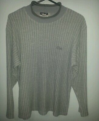 KLUE 80's COOL VINTAGE JUMPER MENS WELL USED GREAT DISTRESS WORN RARE SIZE LARGE