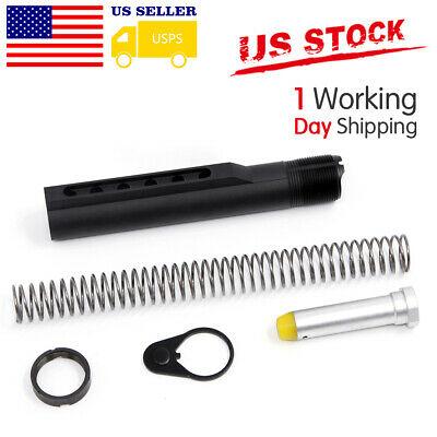 BLACK Mil Spec 6-Position Stock Receiver Extension Tube US STOCK
