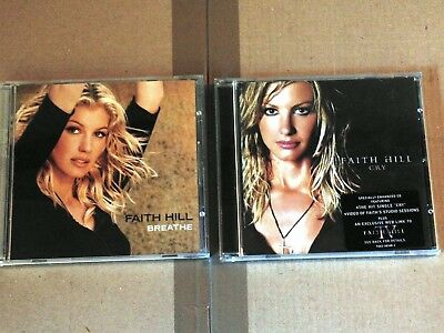 CD FAITH HILL - BREATHE & CRY - 2 ALBUMS Warner 2002 Country/Rock Album 27 Track