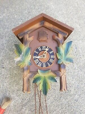 Vintage Old Wooden Cuckoo Clock For Restoration sármány Made in Germany