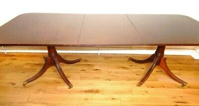 Antique dining table extendable seats 8-10 mahogany local delivery possible