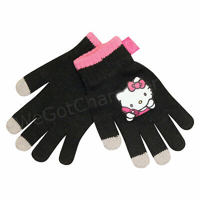 Official Licensed Girl's Hello Kitty Touch Screen Gloves Age 4-8 Years 2 Pairs