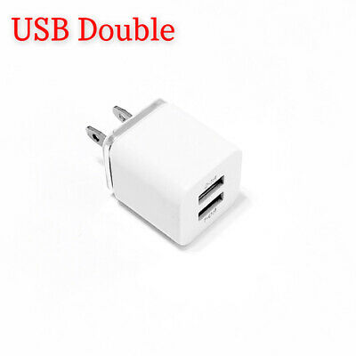 USB Dual Wall Charger Adapter For iPhone 6/ 7/ 8 Plus Samsung LG Universal All .