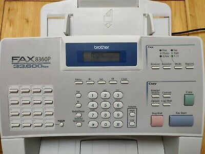 Used Brother FAX-8360P 8360 A4 All In One Mono Laser Fax Machine INCLUDING toner