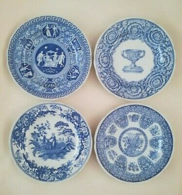"""Four Different Lovely Collectible Spode Blue Room Collection 9"""" Dinner Plates"""