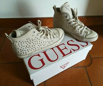 scarpe sneakers n.35 guess bianche borchie sneaker scarpa
