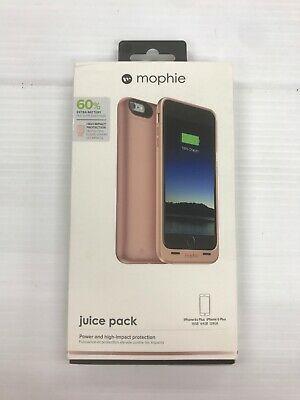 Mophie Juice Pack for iPhone 6s Plus/ 6 Plus Rose Gold 60% Extra Battery 2600mAh