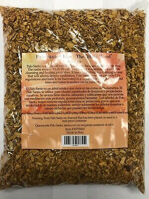 100% Genuine Palo Santo Chips / Holy Wood Chips 16 Oz / 1 Lb