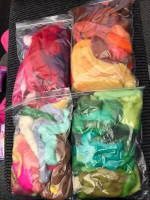 Merino Wool Tops For Wet And Needle Felting 4 X 100g Bags