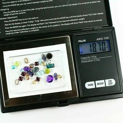 Gemstone Collection  Mixed Loose 18.70 cts in Gem Paper - Exact Lot Shown & Gift