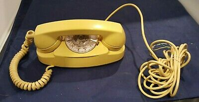 1970's Vintage Bell System Yellow Princess Desk Rotary Phone 702B