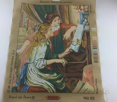 Royal Paris Renoir Printed On Canvas For Needlepoint Made In France 100% Cotton