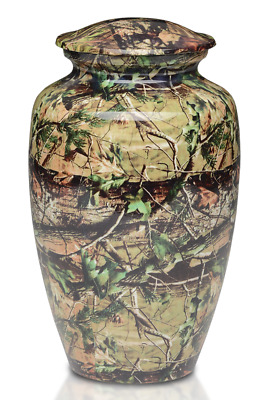 Camouflage Cremation Urns for Human Ashes Adult Size