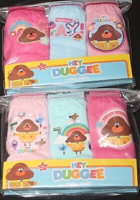 Girls HEY DUGGEE 100% Cotton Briefs/Knickers x 6 Pairs - 18 Months-5 Years