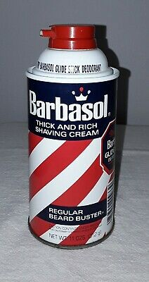 Barbasol Thick And Rich Shaving Cream Regular Beard Buster 11 Oz Can Full