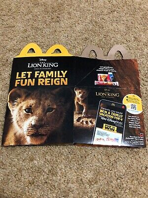 2019 McDonalds Happy Meal Toy Disney The Lion King Box RARE Misprint on Box