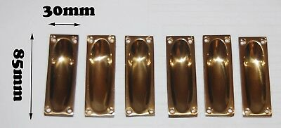 solid brass Flush pull handle 6Pcs as a set (ref # 142)