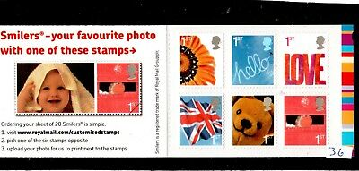 GB QE2 Barcode Booklet 6 X 1st class 2005 QA1 self adhesive Commonwealth Games