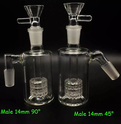 2019 Glass Ash 14mm 18mm 45 90 Degrees with Bowl FREE SHIPPING