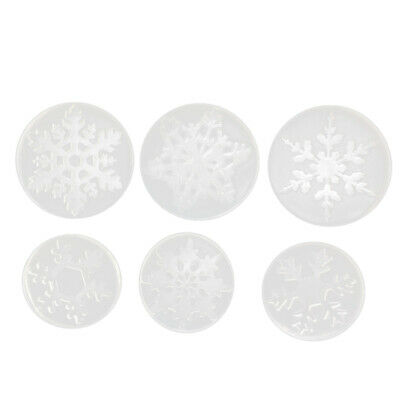 Snowflake Jewelry Casting Molds (Pack Of 6), Silicone Mold Kit, Liquid Resi