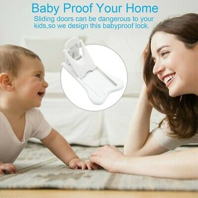 Sliding Door Lock for Child Safety, Baby Proof Lock for Patio, Closet,Showe