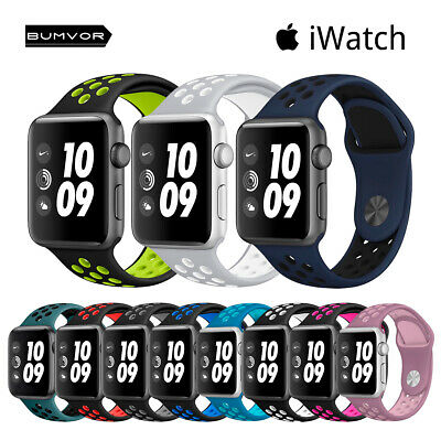 Correa silicona Apple Watch Series 1/2/3/4 Nike Edition pulsera goma iWatch