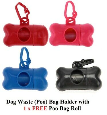 Dog Poop Poo Bag Holder waste Bag dispenser with FREE Refill roll Mix colors