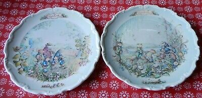 Royal Albert Bone China Wind in the Willows Wall Plate x 2