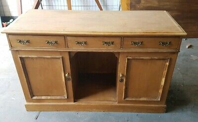 Pair of Stripped Pine Dresser Bases Free Standing Kitchen Units