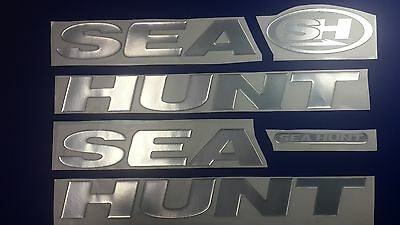 "SEA HUNT boat Emblem 38"" + FREE FAST delivery DHL express"
