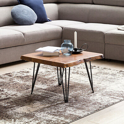 Finebuy Coffee Table Sheesham Solid Wood 120x30x45 Cm Country Style Side Table Designer End Table Living Room Table Elegant Big Waiting Area Tables