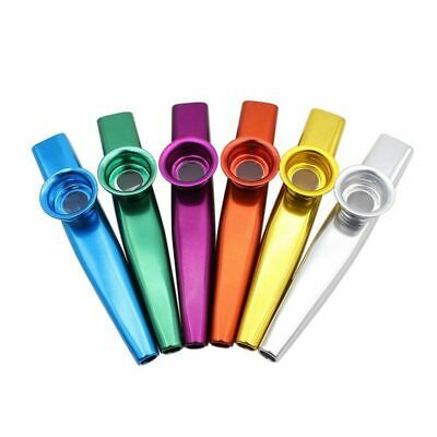 Set of 6 Colors Metal Kazoo Musical Instruments Good Companion for A Guitar