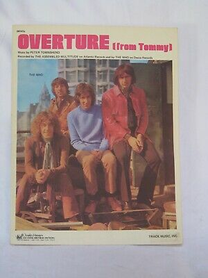 1969 The Who Tommy Overture Sheet Music Pete Townshend