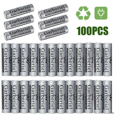 Lot 4000mah 3.7V 18650 Rechargeable Li-ion Flat Top Battery Cell For Flashlight