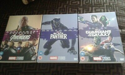 Marvel Dvd O Rings / Slipcovers Avengers - Infinity War / Black Panther / Galaxy