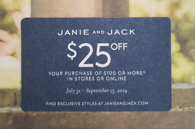 Janie and Jack $25 off $100+ purchase (not 20% off) - Exp 9/15/2019