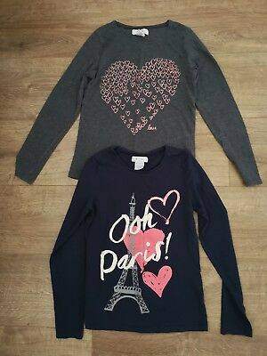 Pair of girls La Redoute long sleeved tops age 10 years
