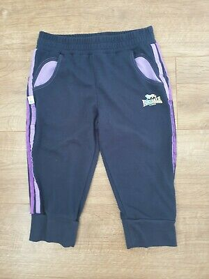 Girls Cropped Tracksuit Trousers Lonsdale Age 11-12