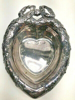 Vintage Reed & Barton #230 Silver Plate Heart Shaped Dish