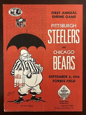 25d9c6a5 1955 CHICAGO CARDINALS vs. Pittsburgh Steelers Football Program-Nice ...