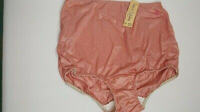 Vtg NOS DVF Panties Briefs Nylon Glossy Pin Up Womens size 7 Wide Gusset Silky