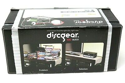 DiscGear Selector 100 AUTO CD DVD HOLDER ORGANIZER Black Faux Leather NEW IN BOX