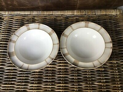 Denby Truffle Layers Wide Rimmed Soup / Pasta Bowls X 2
