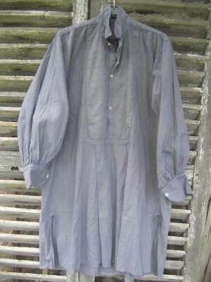 OMG ! Fabulous Antique FRENCH PEASANT WORKER CHEMISE SHIRT Blue Dyed Lagenlook