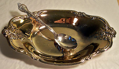 Antique International Silver Company Plate & Spoon