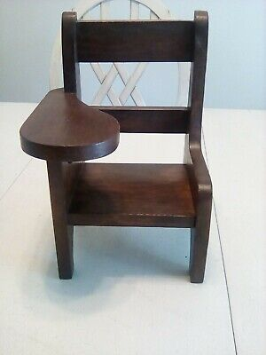 """Doll Size Writing Chair 10"""" Tall Beautiful Wooden Chair"""