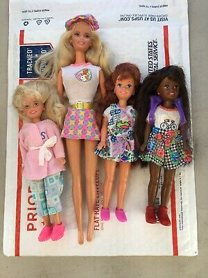 Lot Of Three Stacie's  And One Barbie  Doll from 1991  , Very Nice Pre Owned